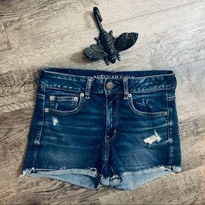 American Eagle Outfitters Denim Hi-Rise Shortie